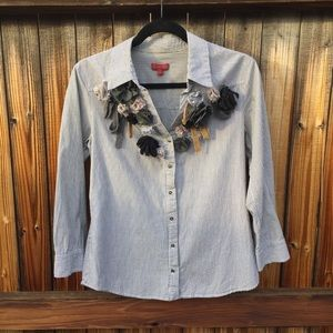Anthropologie Western top with detail